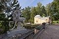 Павловск летний. Мост Кентавров после реставрации и павильон Холодных ванн.jpg