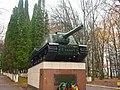 Пам'ятний знак на честь військових частин, які визволяли Волочиський район Волочиськ вул. Лисенка, 5.JPG