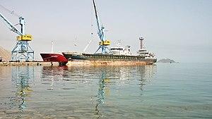 Turkmenbashi International Seaport - Image: Туркменбашинский международный морской порт