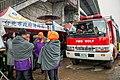 臺北市政府消防局搜索人員取暖 20150209.jpg
