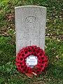 -2019-11-13 CWGC gravestone, Unknown Merchant seaman, Saint John the Baptist's head, Trimingham.JPG