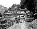 00828 Grand Canyon Historic Bass and Burro on Topocoba Trail c. 1902 (6709755161).jpg
