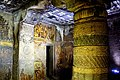 052 Cave 2, Wall Paintings and Pillars (34239995516).jpg