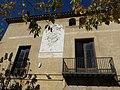 087 Rectoria de Santa Maria, c. de Dalt 47 (Badalona), balcons i rellotge de sol.jpg