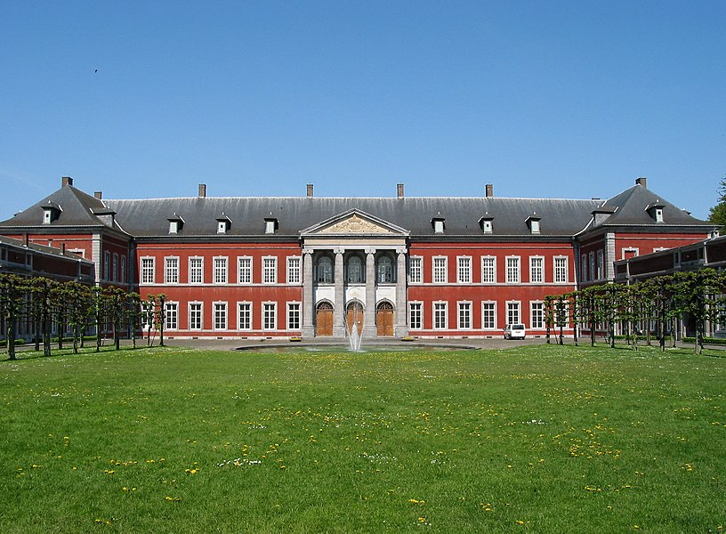 Gembloux (Belgium), main building of the former abbey (1779 - architect: Laurent-Benoît Dewez) currently occupied by the University Faculty of agronomic sciences.