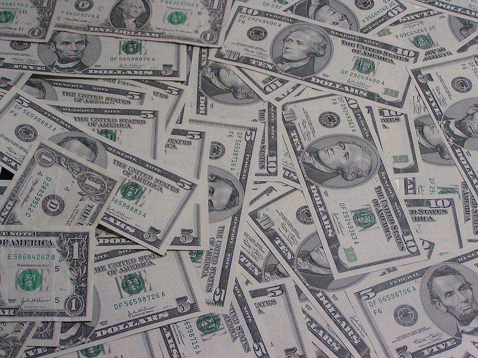 1,5 und 10 Dollarnoten