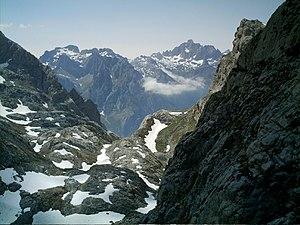 Cantabrian mythology - Torre Bermeja (2,400 m) and Peña Santa (Sacred Mount) (2,596 m) in Picos de Europa.