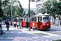 106R08090783 Strassenbahn, Ring, Bereich Haltestelle Börse, Strassenbahn Linie T, Typ E1 4764.jpg