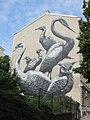 1090 Lazarettgasse 27 - Künstlerische Volkshochschule - Spray-Collage Vogelwelt von Roa IMG 7126.jpg