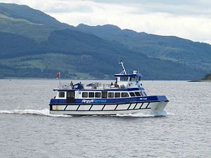 MV Ali Cat - Ali Cat in new Argyll Ferries Ltd livery.