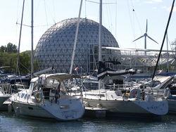 Sailboats at Ontario Place