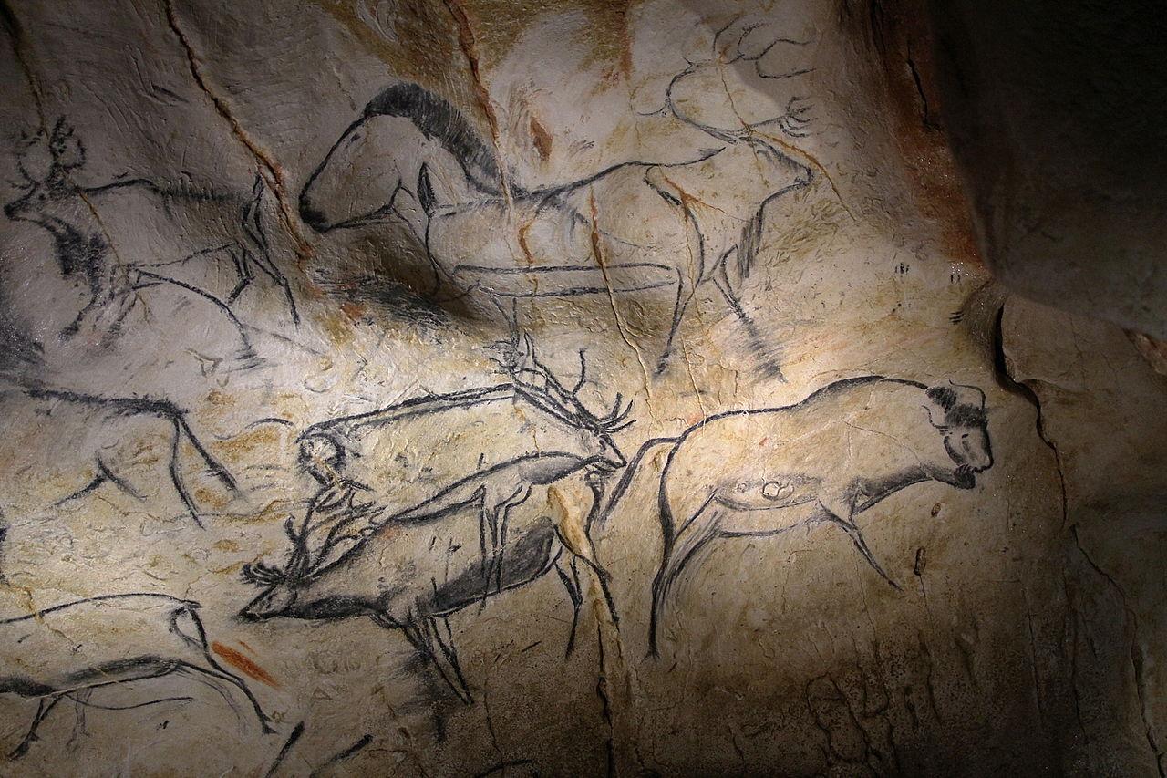 Panneau des rennes à la Caverne du Pont d'Arc