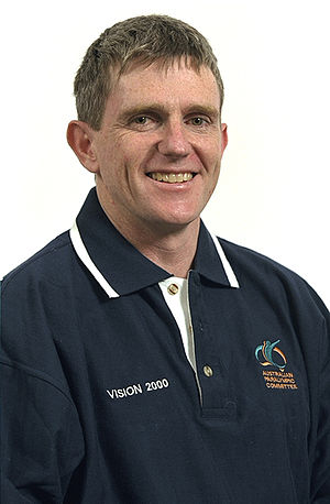 Gerry Hewson - 2000 Australian Paralympic Team portrait of Hewson