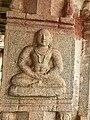 15th-16th century Achyutaraya temple yogi meditating, Hampi Hindu monuments Karnataka.jpg