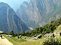 164 Looking down the lower city Machu Picchu Peru 2427 (15160991021).jpg