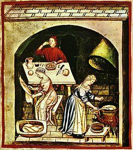 Cucinare, Tacuinum sanitatis casanatensis (XIV secolo).