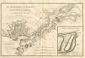 1784 Bocage Map of The Bosphorus and the City of Byzantium - Istanbul - Constantinople - Geographicus - Bosphorus-white-1793.jpg