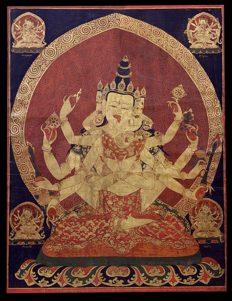 17th century Central Tibeten thanka of Guhyasamaja Akshobhyavajra, Rubin Museum of Art.jpg