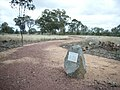 1844 - Myall Creek Massacre and Memorial Site - 7 granite boulders on walkwat with plaques describing events at Myall Creek Station (5056626b1).jpg