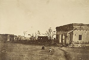 "Siege of Cawnpore - Photograph entitled, ""The Hospital in General Wheeler's entrenchment, Cawnpore."" (1858) The hospital was the site of the first major loss of British lives in Cawnpore"