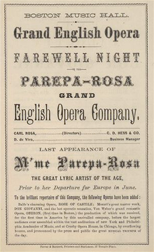 Programa d'Euphrosyne Parepa-Rosa el maig de 1930 al Boston Music Hall