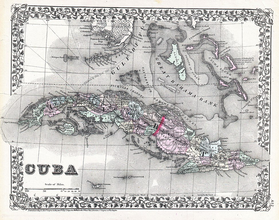 File Mitchell Map Of Cuba And The Bahamas Geographicus Cuba - Vintage map of cuba