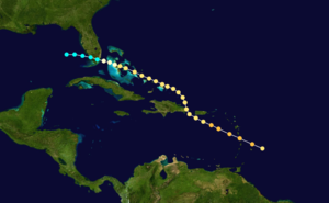 1891 Atlantic hurricane season - Image: 1891 Atlantic hurricane 3 track