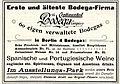 1896 Anzeige The Continental Bodega Company, in Berlin 4 Bodegas.jpg