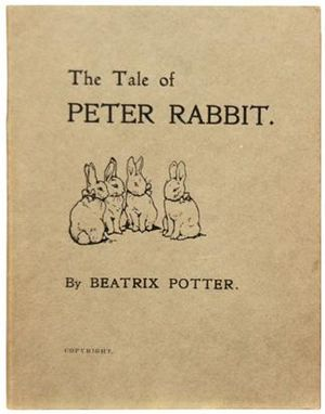 The Tale of Peter Rabbit - Cover of the 1901 privately published edition