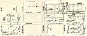 Spring Garden, Philadelphia - 1903 plan of Baldwin Locomotive Works.