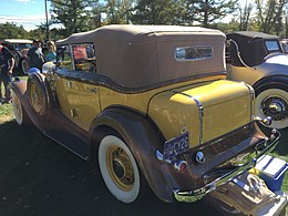 1932 Nash Advanced Eight 4-door convertible (CCCA Full Classic) at 2015 AACA Eastern Regional Fall Meet 06of17.jpg