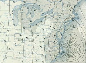 1938 New England hurricane - Image: 1938 hurricane September 21, 1938 weather map