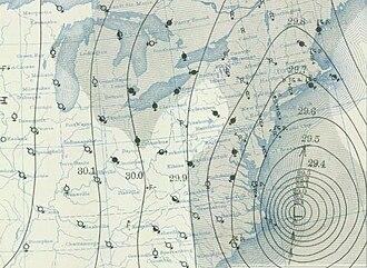 1938 New England hurricane - Image: 1938 hurricane September 21, 1938 weather map