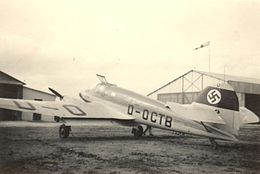 1939 Tunisie Avion allemand.jpg