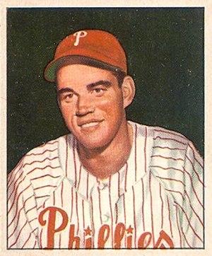 Bob Miller (baseball, born 1926) - Image: 1950 Bowman Bob Miller