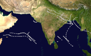 1960 North Indian Ocean cyclone season - Image: 1960 North Indian Ocean cyclone season summary map
