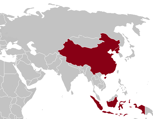 1964 Summer Olympics (Tokyo) boycotting countries (red)