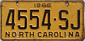1966 North Carolina license plate.jpg