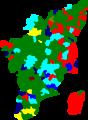 1977 tamil nadu legislative election map by parties.png
