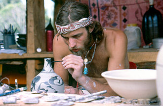 Nambassa - Pottery making in Nambassa