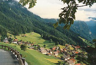 Triesenberg - Triesenberg in late-August 1987