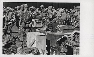 Operation Keystone Eagle - Image: 2.9 Marines wait to board USS Paul Revere at Da Nang