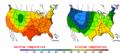 2002-09-19 Color Max-min Temperature Map NOAA.png