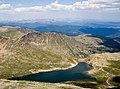 2006-07-16 Summit Lake Park from Mount Evans Summit.jpg