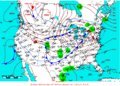 2007-01-27 Surface Weather Map NOAA.png