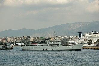 Lighthouse tender -  Hellenic Navy lighthouse tender HS Karavogiannos, A-479.