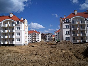 Land consumption - Building construction in Olsztyn, Poland