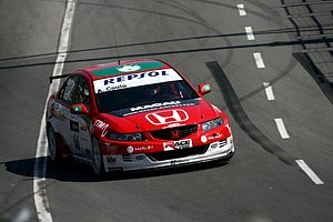André Couto - Couto driving the Honda Accord in the WTCC in Macau.