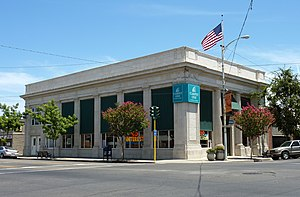 Reedley, California - The Reedley National Bank building is listed on the National Register of Historic Places.