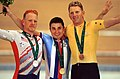 201000 - Cycling track Paul Lake bronze medal podium - 3b - 2000 Sydney medal photo.jpg